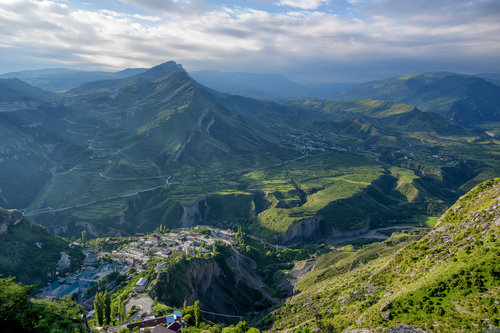 Location scouting in Dagestan's Caucasus mountains