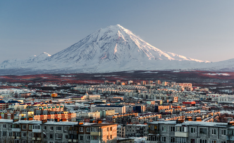 Filming in Petropavlovsk-Kamchatsky of Russia