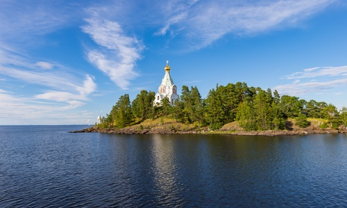 Filming in Valaam of Karelia Russia