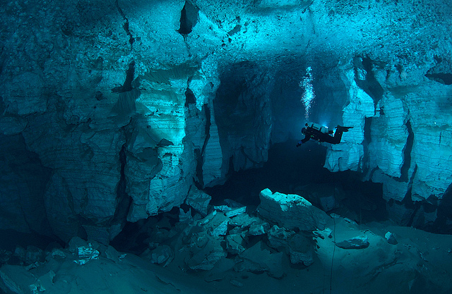 Diving sites in Ural mountains Russia